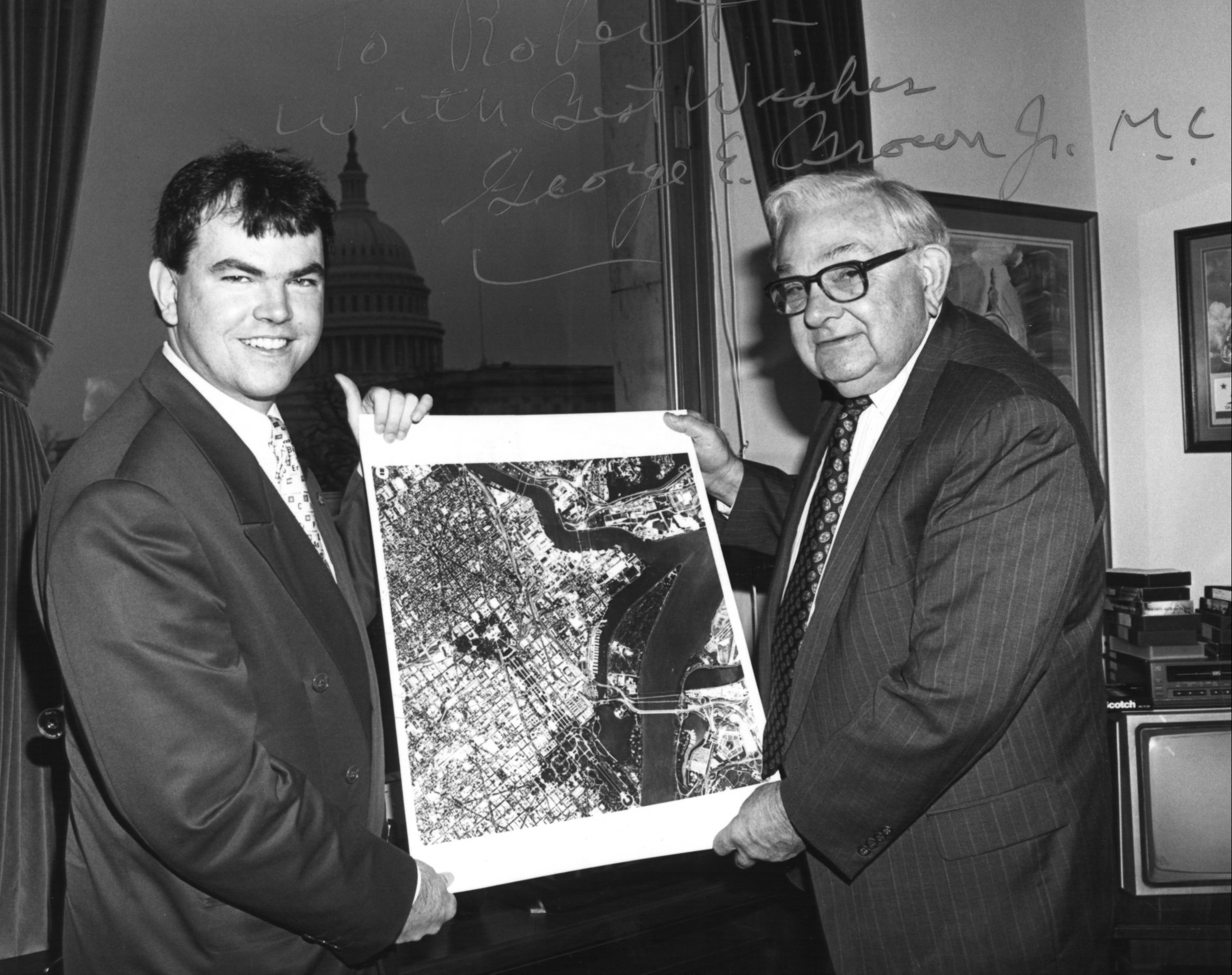 me & the late George Brown with Soviet spysat pic 17K